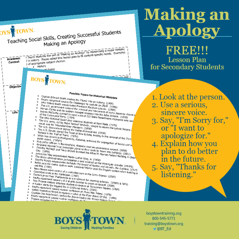 Boys Town National Training | Lesson Plans and Downloads